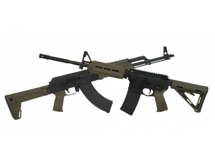 PSAK-47 Liberty GB2 MOE Rifle, OD Green & PSA MOE AR-15, OD Green
