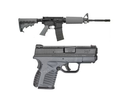 "PSA 16"" Carbine-Length Classic Freedom Rifle, Gray & Springfield XDS .45 ACP Pistol, Gray"