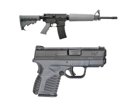 "PSA 16"" Mid Length Phosphate Classic Freedom Rifle, Gray & Springfield XDS .45 ACP Pistol, Gray"