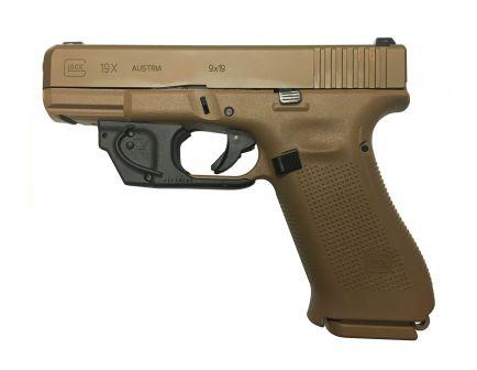 Glock 19X Gen5 9mm Flat Dark Earth Pistol with Viridian E-Series Red Laser System
