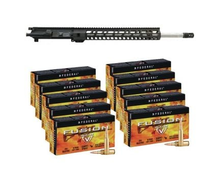 "PSA 20"".224 Valkyrie 15"" M-LOK Upper with BCG & CH & 200 Rounds of Federal Fusion .224 Valkyrie 90gr Ammo"