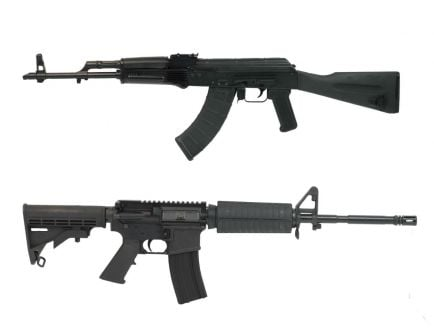"PSAK-47 GF3 Classic Polymer Rifle & PSA 16"" AR-15 Classic Rifle Set With Matching Serial Numbers"