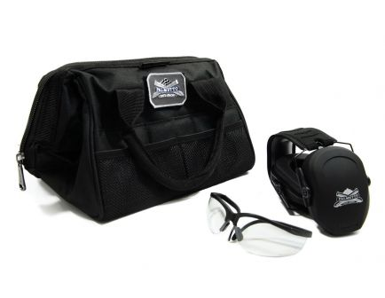 Walker's Ultra Slim Muff/Glasses Combo & PSA Small Range Bag w/ PSA Logo Moral Patch Bundle