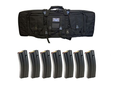 "PSA 36"" Single Gun Case & Seven 30rd D&H Magazines"