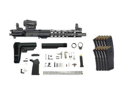 "PSA 10.5"" Carbine-Length 5.56 NATO 1/7 Phosphate 10"" Lightweight M-Lok MOE EPT SBA3 Pistol Kit w/MBUS & Sparc AR 2 + 10 PMAGS"