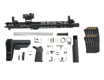 """PSA 10.5"""" Carbine Length 5.56 1/7 12"""" Slant M-LOK MOE EPT SBA3 Pistol Kit W/ MBUS Set & ROMEO MSR + 10 PMAGS"""