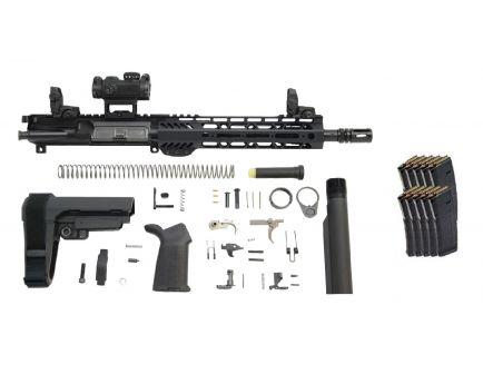 "PSA 10.5"" Carbine Length 5.56 1/7 NATO 9"" Lightweight M-LOK MOE EPT SBA3 Pistol Kit W/ MBUS Set & ROMEO MSR + 10 PMAGS"