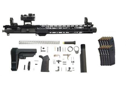 "PSA 10.5"" Carbine Length 5.56 1/7 NATO 12"" Slant End M-LOK MOE EPT SBA3 Pistol Kit W/ MBUS Set & ROMEO MSR + 10 PMAGS"