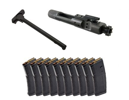 Toolcraft Phosphate 5.56 Full-Auto MPI BCG w/Mil-Spec Charging Handle & 10 Magpul PMAG 30rd 5.56x45 Magazines