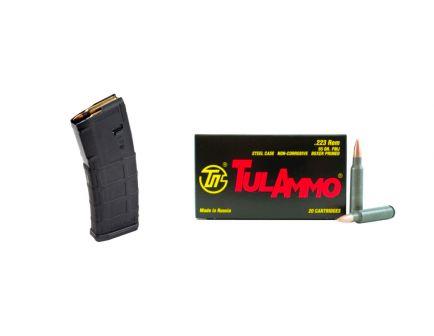 200rds Tula 55gr FMJ Steel Case .223 Ammo & 10 Magpul PMAG 30rd Gen2 MOE 5.56x45 Magazines