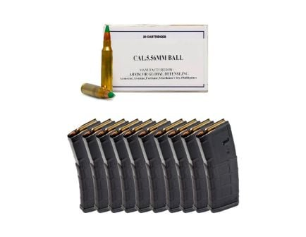 200rds of ArmsCor Copper 62gr FMJ 5.56 Ammo & 10 Magpul PMAG 30rd Gen2 MOE 5.56 Magazines