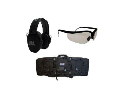 """PSA Branded Walker's Ultra Slim Muff & Glasses Combo & 36"""" Single Gun Case"""