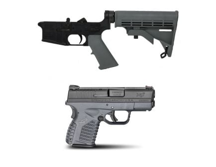 PSA AR-15 Freedom Classic Lower, Gray & Springfield Armory XDS 9MM Pistol Essentials, Gray