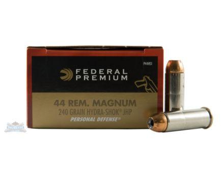 Federal 44 Magnum 240gr Hydra-Shok Ammunition 20rds - P44HS1