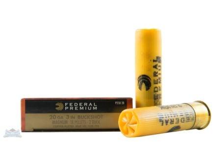 "Federal 20ga 3"" Magnum 18 Pellets 2B Vital-Shok Shotshell Ammunition 5rds - P258 2B"