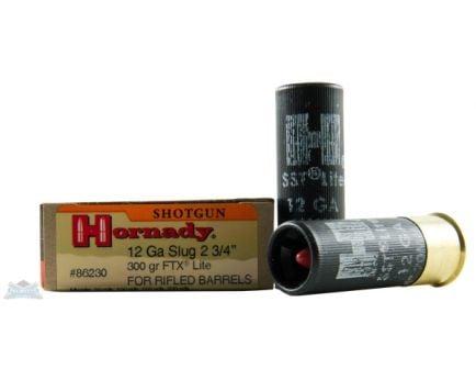 Hornady 12ga 300gr FTX 2 3/4in Custom Lite Ammunition 5rds - 86230