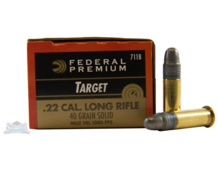 Federal 22 Long Rifle 40gr Solid Sub-Sonic Gold Medal Ammunition 50rds - 711B