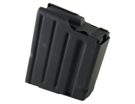 ASC Magazine: SR-25: 308 Winchester/7.62 NATO 10rd Capacity Black Marlube Stainless Steel Black Follower - 10-308-SS-BM-B-ASC