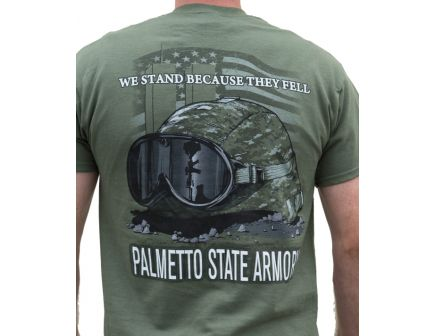 """PSA - """"We Stand"""" S/S T-Shirt - Military Green - 2XL"""