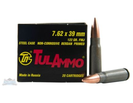 Tula 7.62x39mm Ammo 122 GR FMJ  for sale