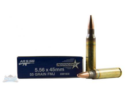 Independence 5.56 NATO 55gr FMJ Ammunition 20rds - XM193I
