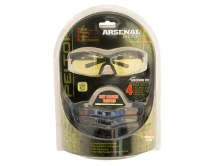 Peltor Arsenal Tac Pac Shooting Glasses (Clear, Gray, Amber and Mirror Blue) 97089