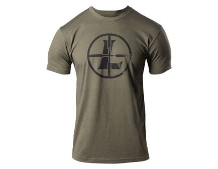 Leupold Distressed Reticle T Shirt Size M, Green