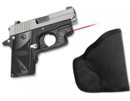 Crimson Trace Sig Sauer P238  - Laserguard,  Front Activation - with M Holster - NEW LG-492H