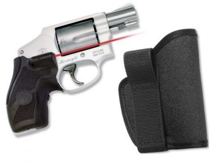 Crimson Trace S&W J-Frame Round Butt - Lasergrip, Front Activation - with L Holster - NEW LG-405H