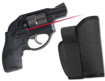 Crimson Trace Ruger LCR - Lasergrip, Front Activation - with L Holster - NEW LG-411H