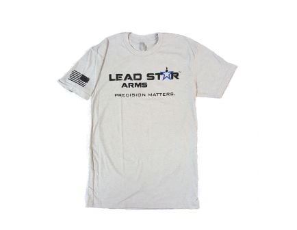 Lead Star Arms Logo T-Shirt, Grey