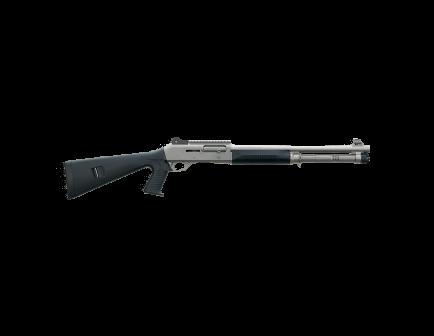 "Benelli M4 Tactical 18.5"" 12 Gauge Shotgun, Titanium/BLK - Pistol Grip"