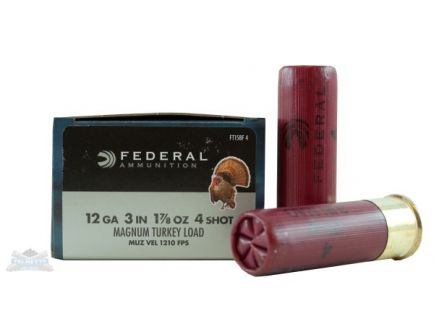 "Federal 12ga 3"" 4DE 2oz #4 Strut-Shok Magnum Lead Turkey Shotshells 10rds - FT158F"
