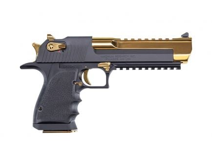 Magnum Research Desert Eagle .50 AE Pistol, Black and Gold