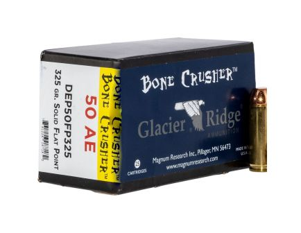 Magnum Research Bone Crusher 325 gr Flat Point .50 AE Ammo, 20/box - DEP50FP325