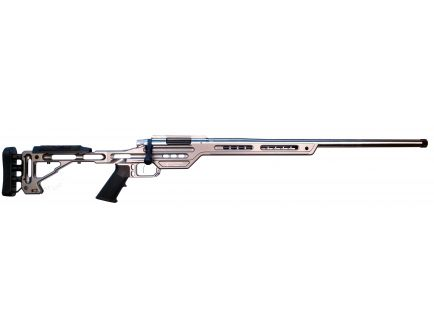 MasterPiece Arms BA PMR Competition .308 Win Bolt Action AR-10 Rifle, Tungsten - 308PMRRHTNGPBA