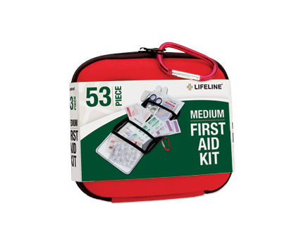 Lifeline 53 PC HARDSHELL FIRST AID KIT