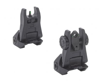 Meprolight FUBS Tritium Front And Rear Back Up Sights, Black