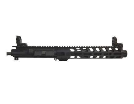 "PSA 8.5"" Pistol Length 5.56 NATO 1:7 Phosphate 10.5"" Lightweight M-LOK Upper w/ Fluted Flash Can & MBUS Sights"