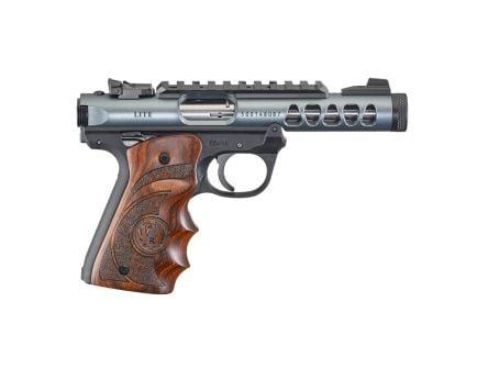 Ruger Mark IV 22/45 Lite .22 LR Pistol with Target Grips, Diamond Gray - 43921
