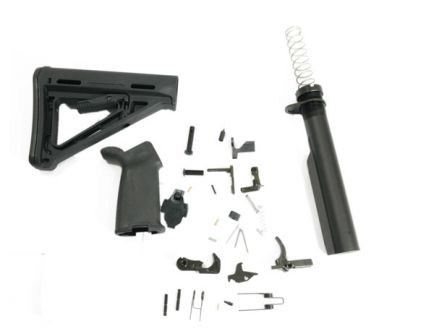PSA PA10 MOE PLUS Black Lower Build Kit - 503563