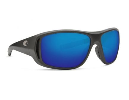Costa Montauk 400G Blue Mirror Sunglasses, Steel Gray Metallic Frame - MTK 188 BMGLP