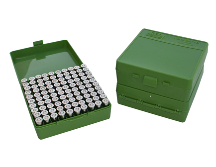 MTM Case Guard FlipTop Ammo Box 380ACP/9mm-Green-100rd-P-100-9-10