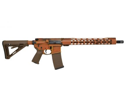 "PSA Custom ""Battle Worn"" Mid-Length 16"" 5.56 NATO 1/7 Nitride 15"" Slim-Line MLOK MOE Rifle, Orange"