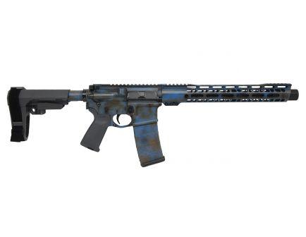 "PSA Custom ""Rusted Justice"" 12"" Nitride Carbine-Length 5.56 NATO 13.5"" V2 Slant MLOK SBA3 Pistol - Blue"