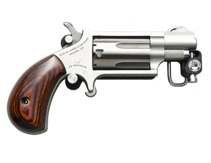 """NAA Belt Buckle Magnum 1.125"""" 22 WMR Revolver"""