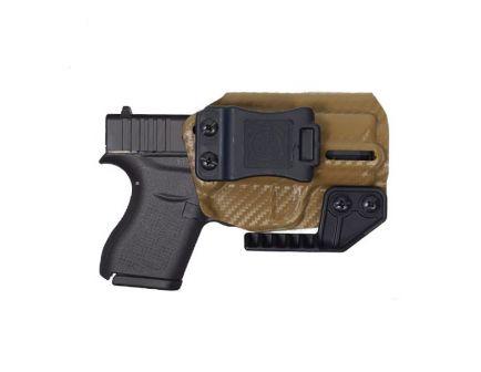 Nerd IWB Glock 43/43X Holster For Sale, Carbon Fiber Brown