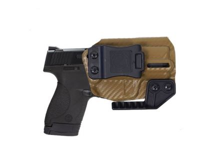 Nerd IWB Smith and Wesson Shield Holster For Sale, Carbon Fiber Brown