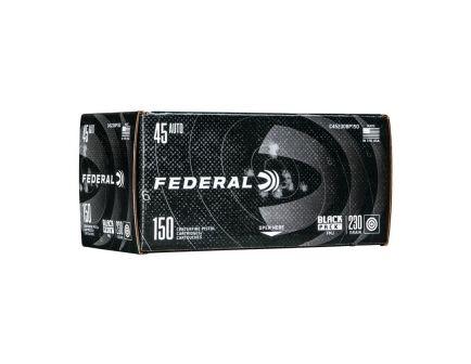 Case of Federal .45 ACP 230 gr FMJ Black Pack, 600rds - C45230BP150