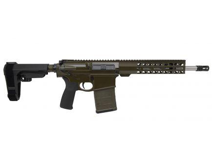 "PSA Custom Gen3 PA10 12.5"" Carbine-Length .308 Win 1/10 SS 10"" Slim-Line MLOK SBA3 Pistol - OD Green"